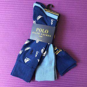 Polo Ralph Lauren 3 Pairs Men's Cotton Sport Socks